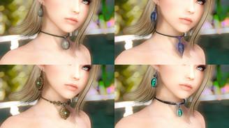 Vanilla Chokers & Earrings