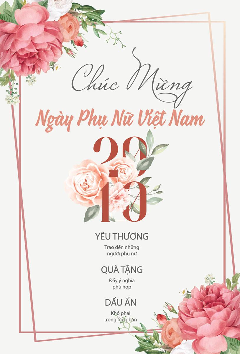 Tải Background Phông Nền Ngày Phụ Nữ Việt Nam 20/10 vector Illustrator AI