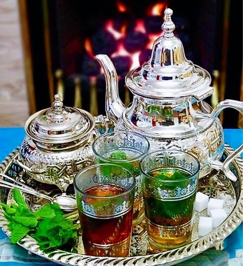 Traditional Moroccan Mint Tea set