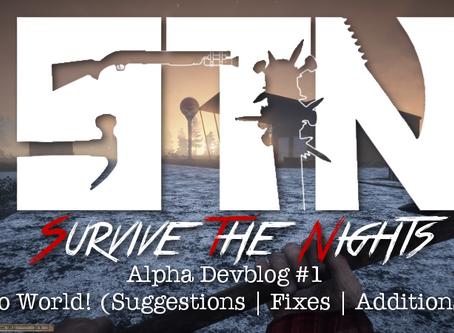 Alpha Devblog #1 - Hello World! (Suggestions | Fixes | Additions ++)