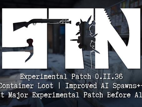 Pre-Alpha Devblog #37 (Experimental Build Patch 0.11.36)