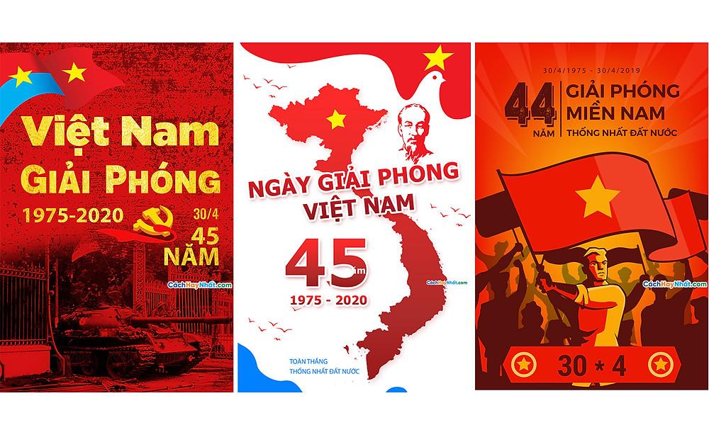 Băng Rôn Giải Phóng Miền Nam 30-4 Và Quốc Tế Lao Động 1-5 File Vector