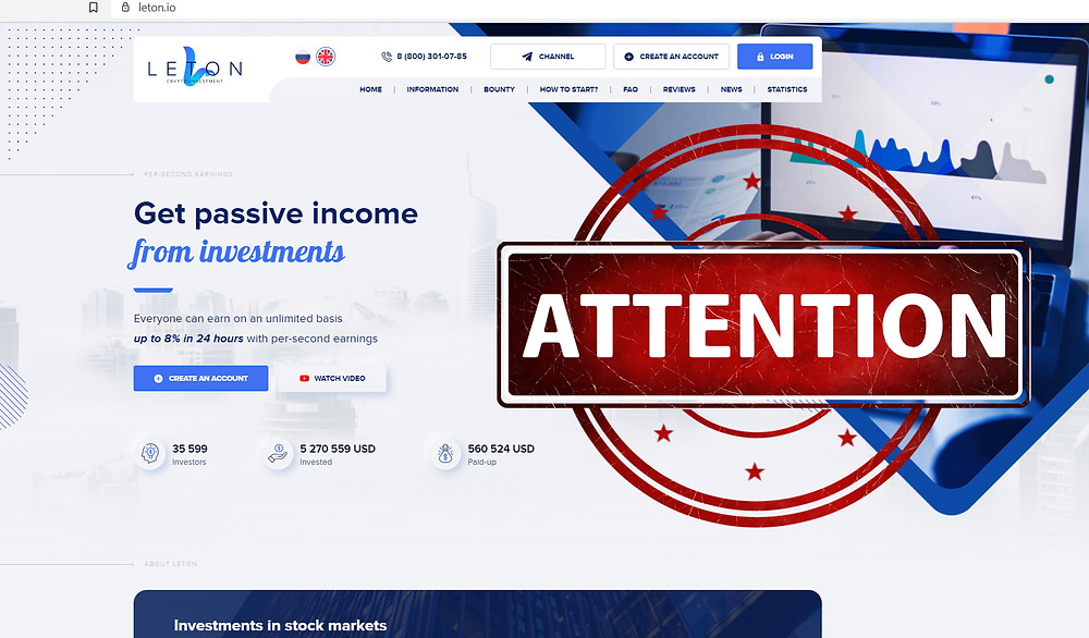 Leton Crypto Investment AVIS