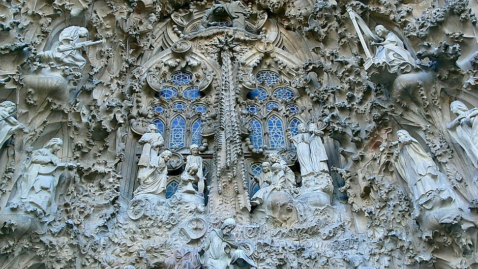 the Nativity Facade of Sagrada Família