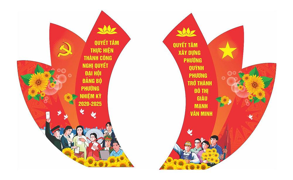 Vector Đại Hội Đảng Mẫu Cánh Gà Sân Khấu