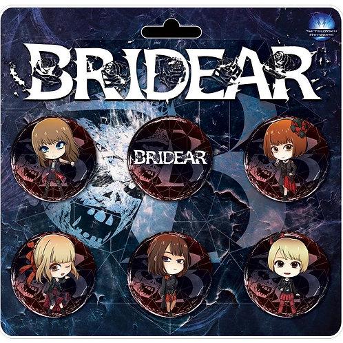 BRIDEAR limited edition badge set