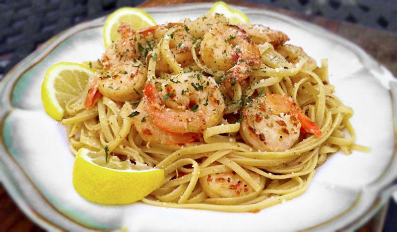 Shrimp Lemon Pepper Linguine