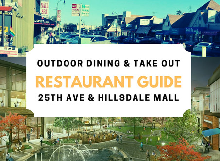 25th Ave & Hillsdale Mall Dining Guide (Outdoor & Take Out)