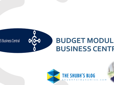 Create budgets in Dynamics 365 Business Central.