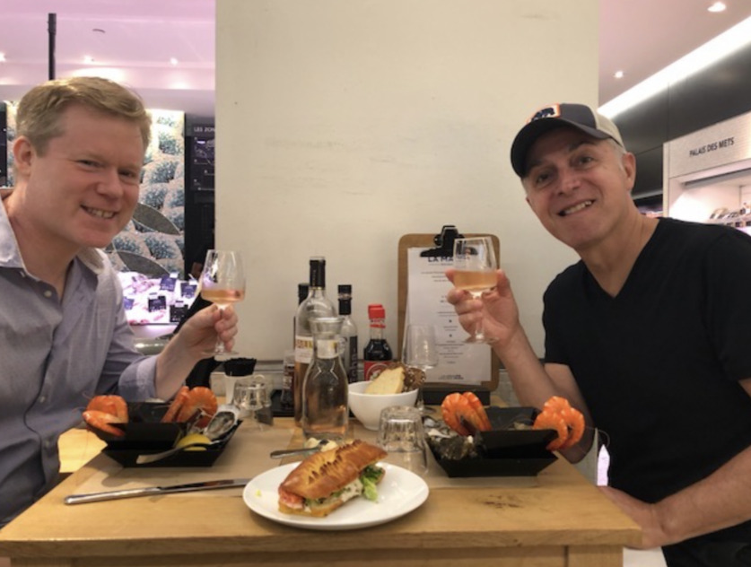 The writer (right) with his huband, Todd MacDonald (left) in Paris, 2018