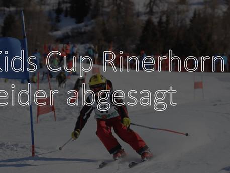 Kids Cup Rinerhorn abgesagt