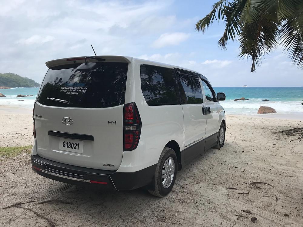 Taxi Services and Island Tour Praslin Island Seychelles.