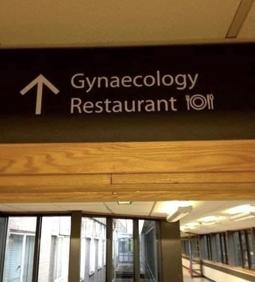 Gynecology Restaurant Sign