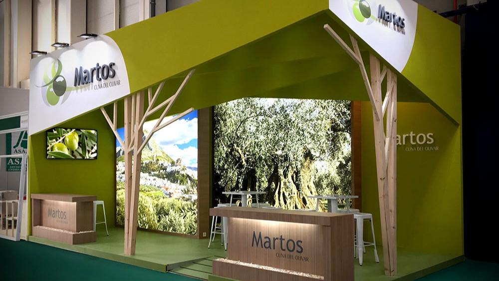 Diseño y montaje de stands en Expoliva