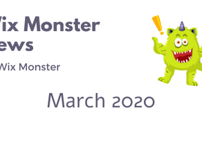 מה חדש בוויקס - מרץ 2020