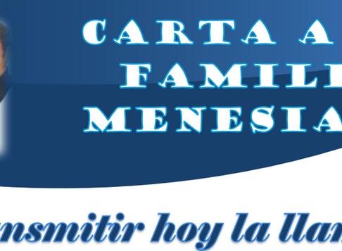 CARTA A LA FAMILIA MENESIANA