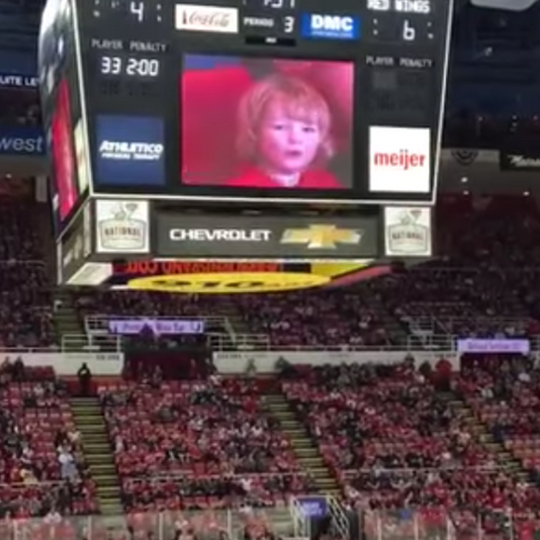 Hockey Fans Cheer When Little Kid Is on Big Screen - Boo Everyone Else