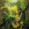 Small replica moss panel