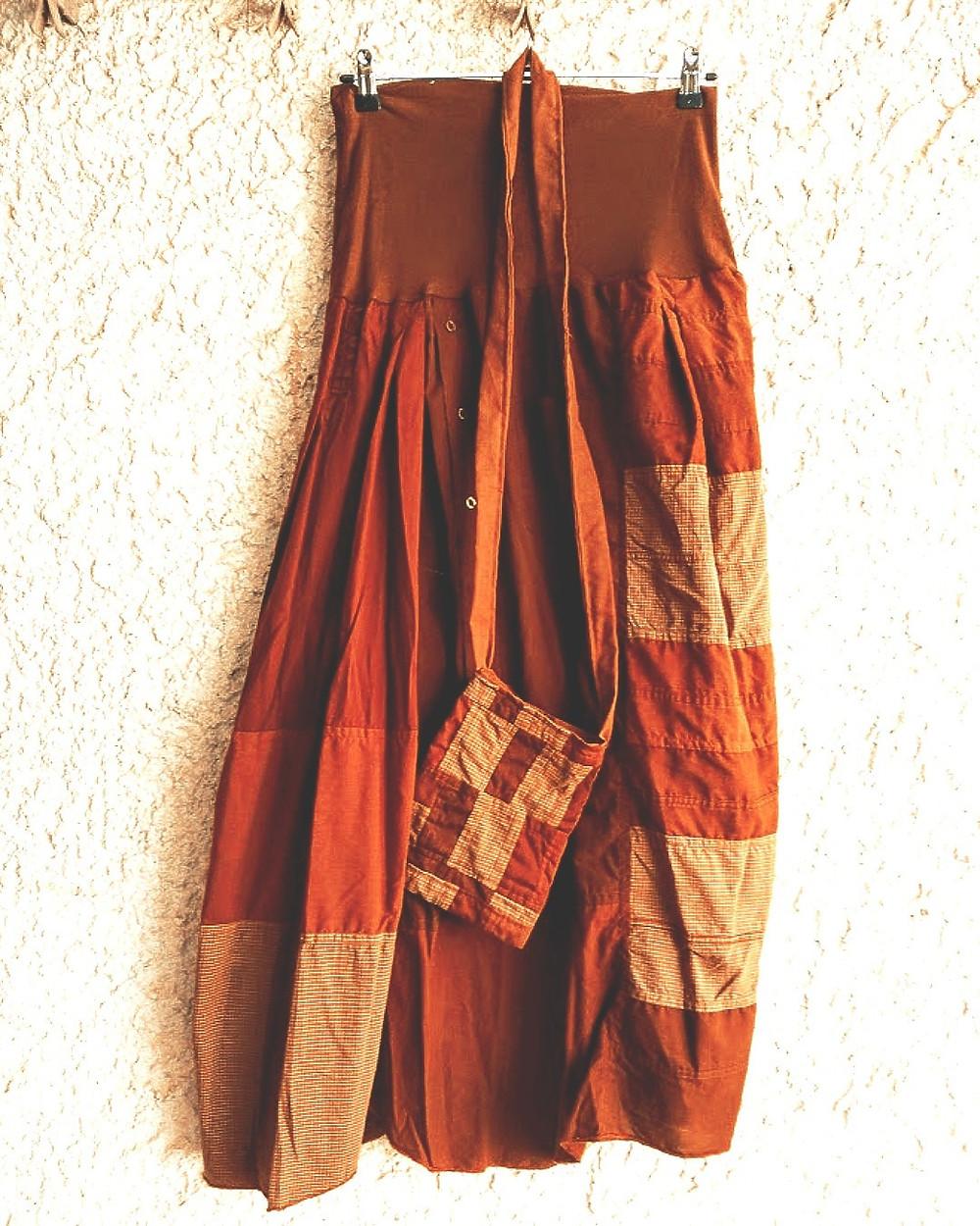 Rust boho skirt