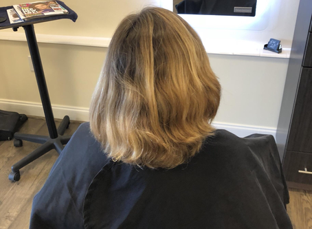 Touch-up, Foils with Haircut and Blow-dry