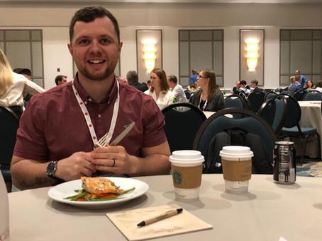 Jamie 'Two Coffees' Moore enjoying ASH 2019