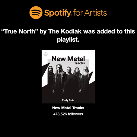 """True North"" Added to Spotify's New Metal Tracks Playlist ... See More"
