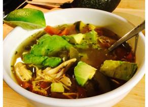 Lime Chicken Avocado Soup