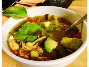 Lime Chicken Avocado Soup