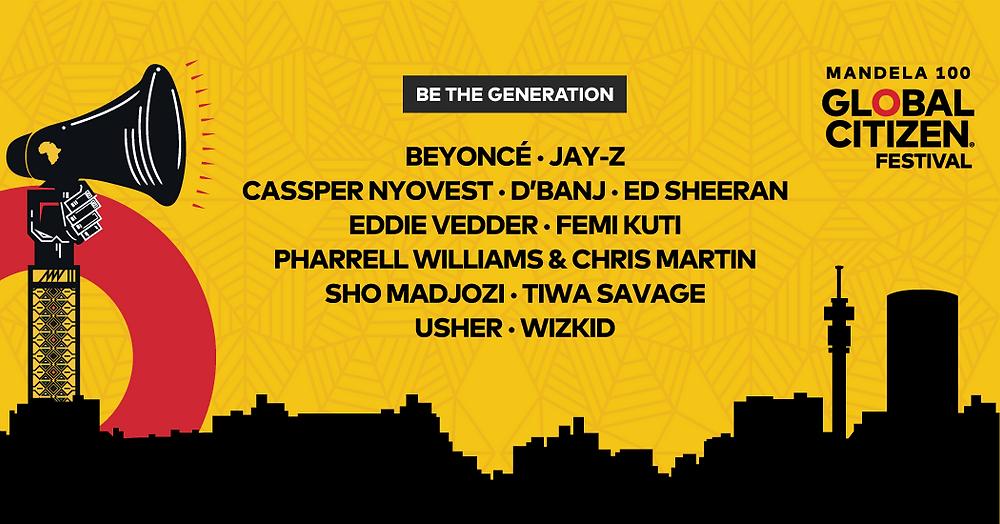 Global Citizen Festival 2019. Beyone, Jay Z, Ed Sheeran, Eddie Vedder, Pharrel Williams, Usher y Chris Martin. Un festival de música para recaudar fondos para los más necesitados. Solidaridad, influencia y humanidad en el mundo digital..