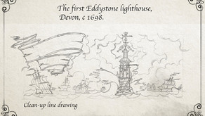 Celebrating 321 years since Eddystone Lighthouse was lit up for the first time