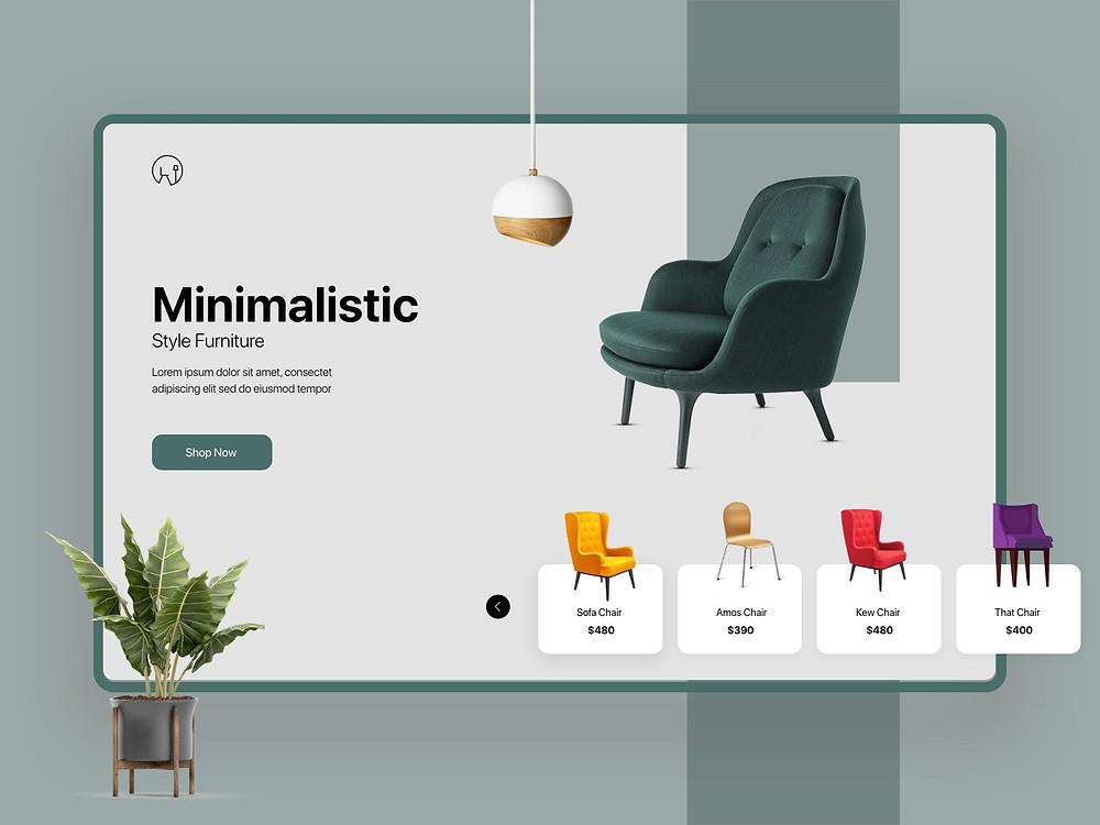 Theme Furniture Banner-UX/UI Design