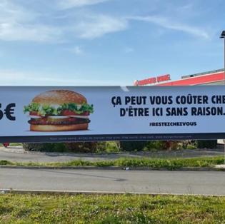 Une solution radicale pour éviter le masque au Burger King