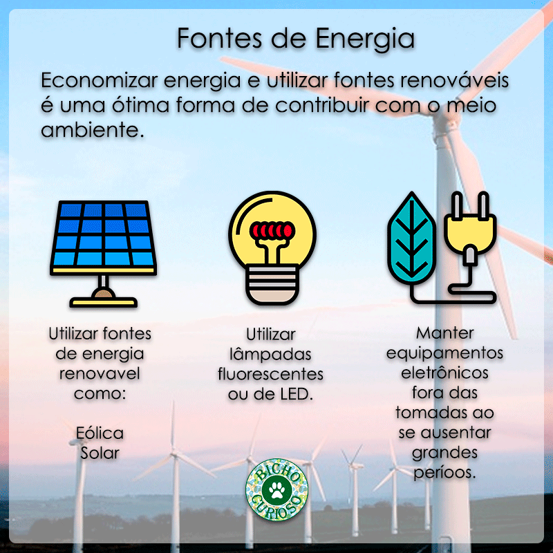 preserve a natureza, fontes de energia