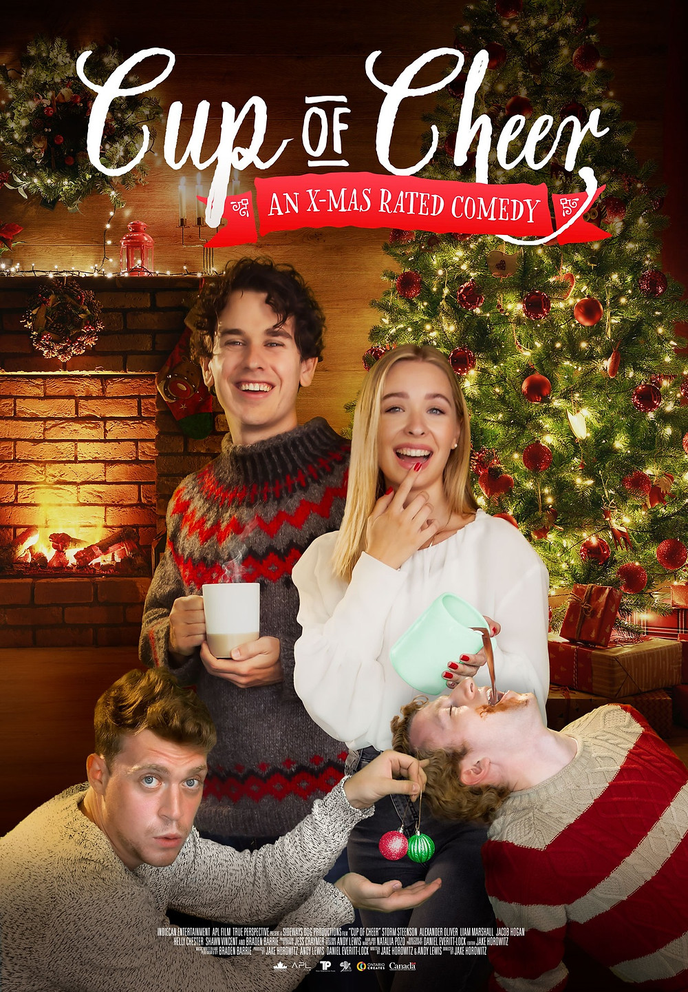 Poster for Cup of Cheer showing protagonists.