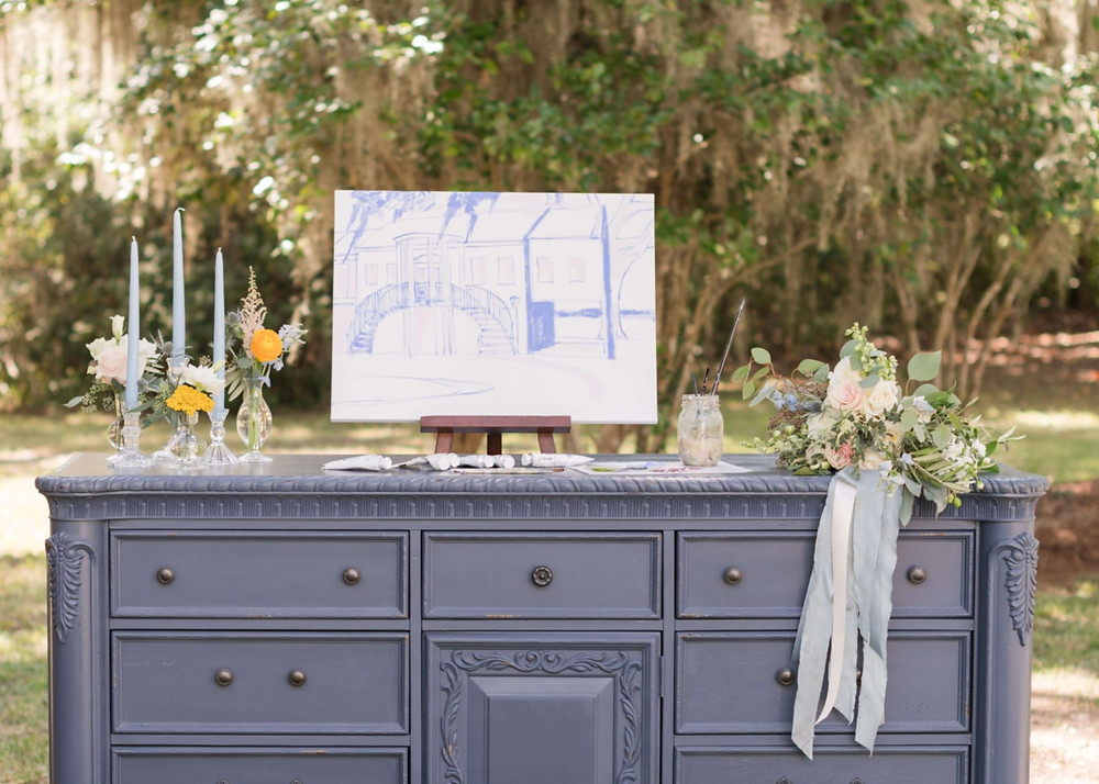 Statue Guestbook on Blue Chest