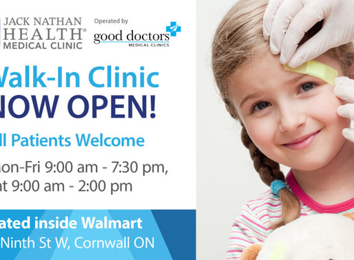 New Walk-In Clinic in Cornwall, ON, Now Open!