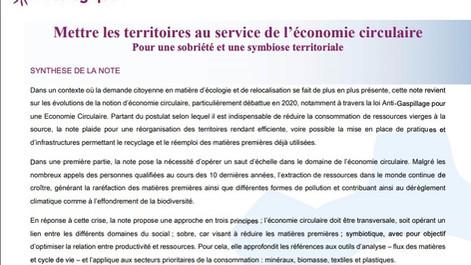 « Mettre les territoires au service de l'économie circulaire », la nouvelle note signée par Neo-Eco