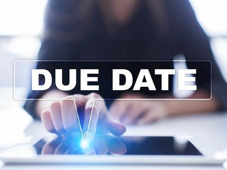 June 2020 Individual Due Dates