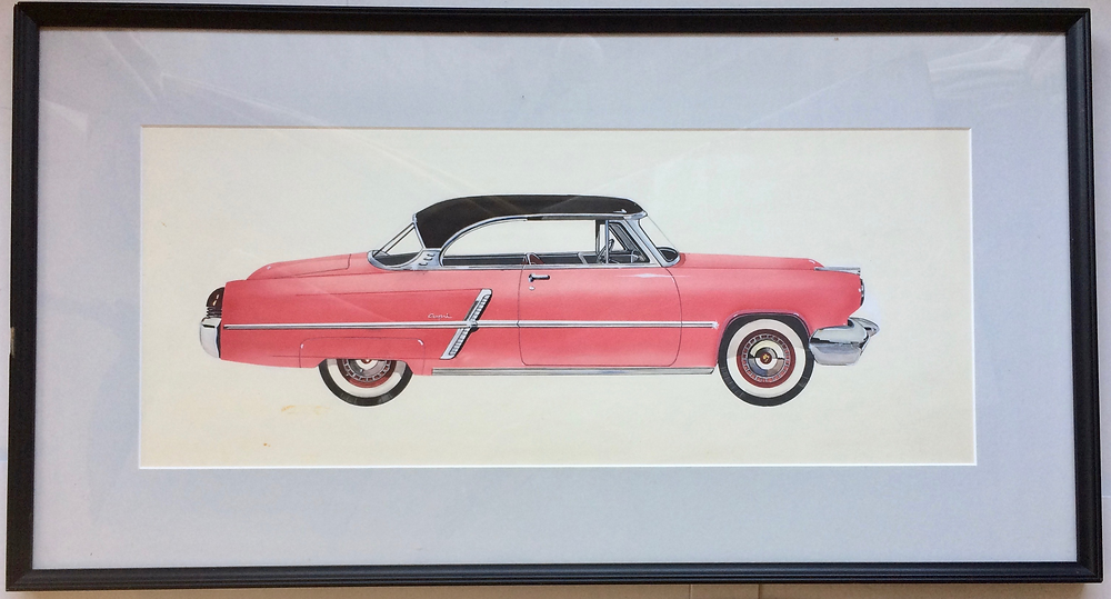 Ford Capri 1953 Framed Artwork