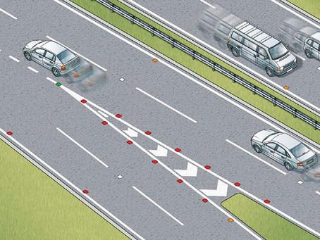 Motorway stud markings