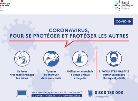 Message aux parents : Coronavirus