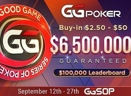 Новая серия GGSOP с общими призовыми 6 500 000$ на GGпокерок