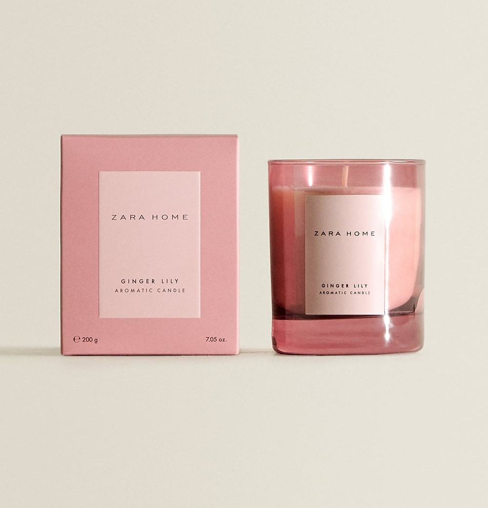 Ginger lily Scented Candle image via Zara Home