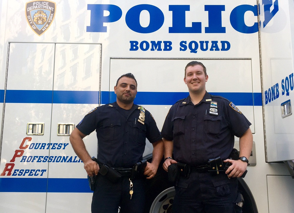 NYPD Sgt. Hameed Armani and partner Officer Peter Cybulski
