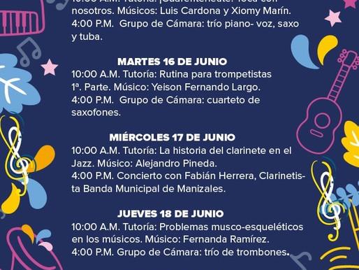 PROGRAMACIÓN BANDA MUNICIPAL DE MANIZALES 15 AL 19 DE JUNIO
