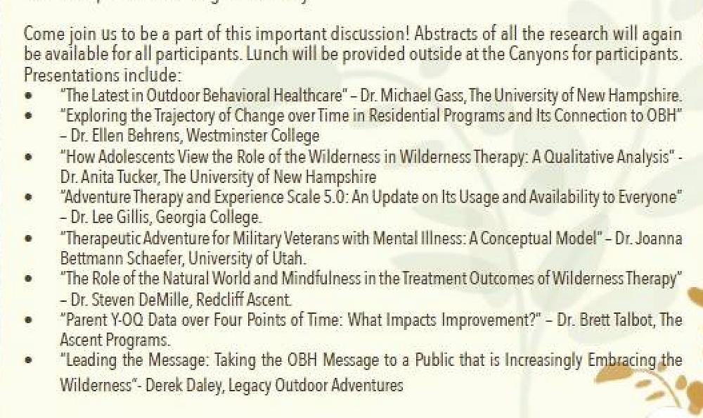 Dr. Brett Talbot, Dr. Ellen Behrens, Dr. Anita Tucker, Dr. Joanna Bettmann, Derek Daley, Dr. Michael Gass,