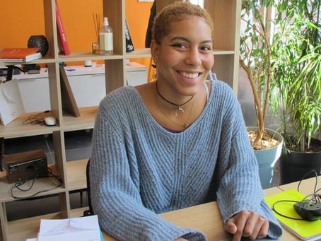 Amandine, la première stagiaire du Cowork Studio