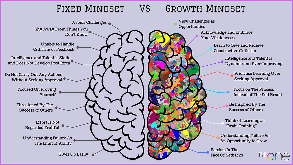 Fixed vs Growth Mindset Brain
