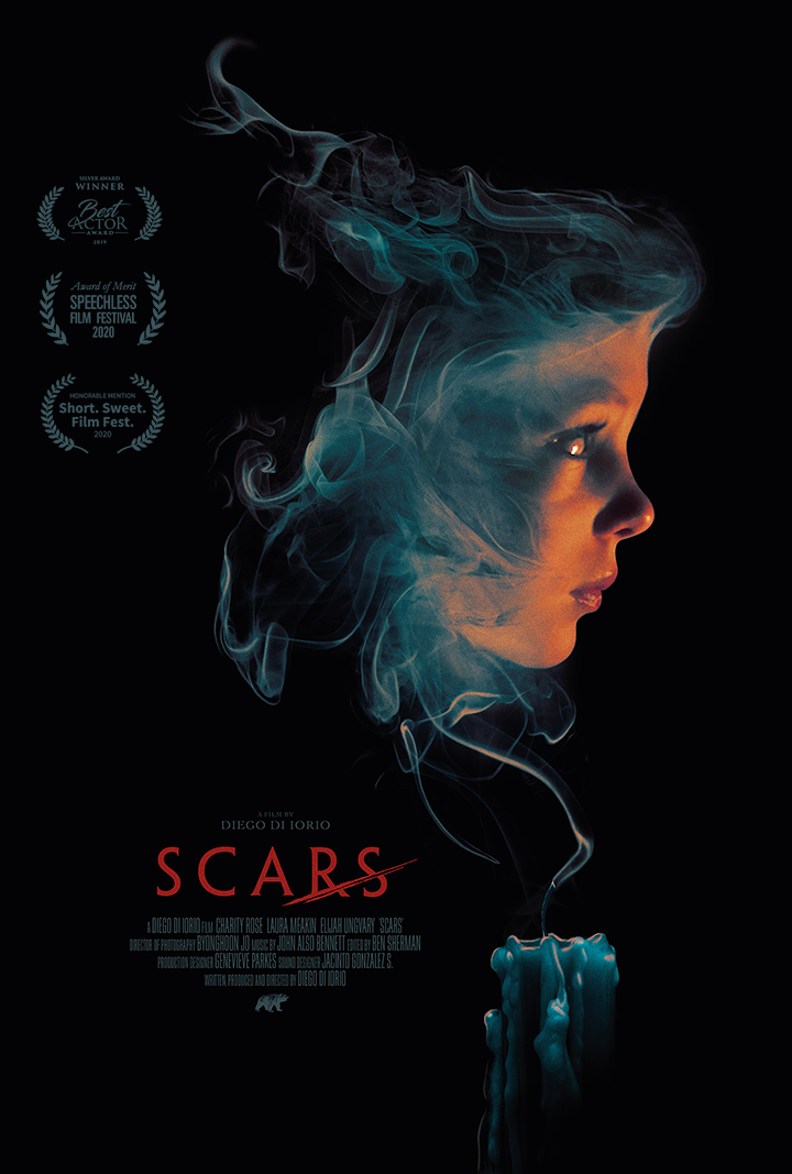 Poster for Scars showing protagonist Charity Rose.