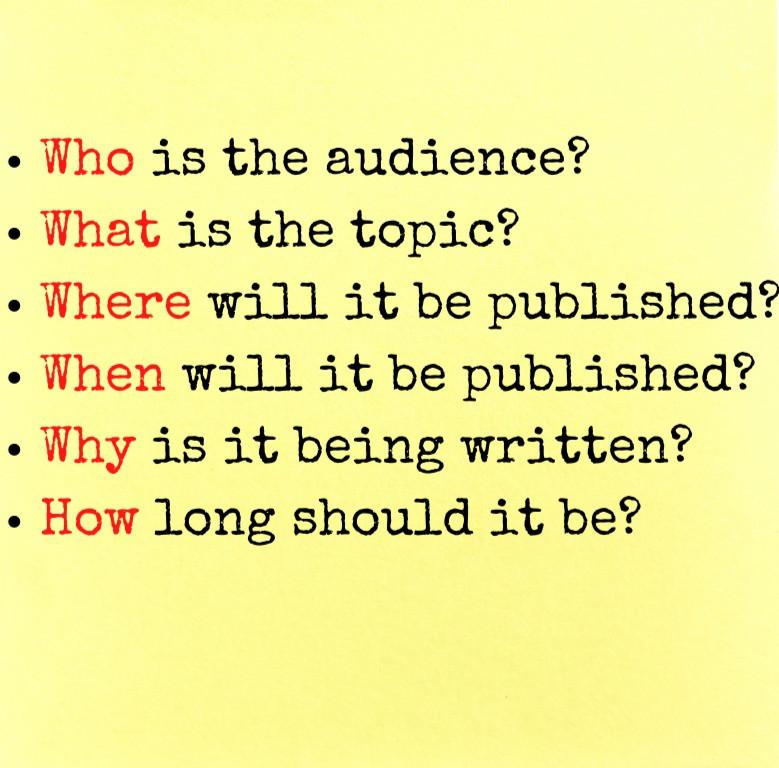 Six key things to tell a freelance writer
